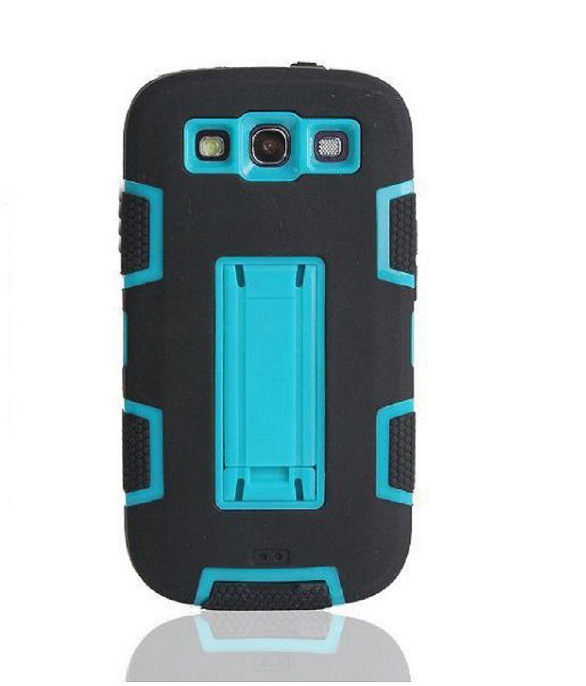 Bracevor 3 in 1 Armor Stand Case for Samsung Galaxy S3 i9300 - Light Blue