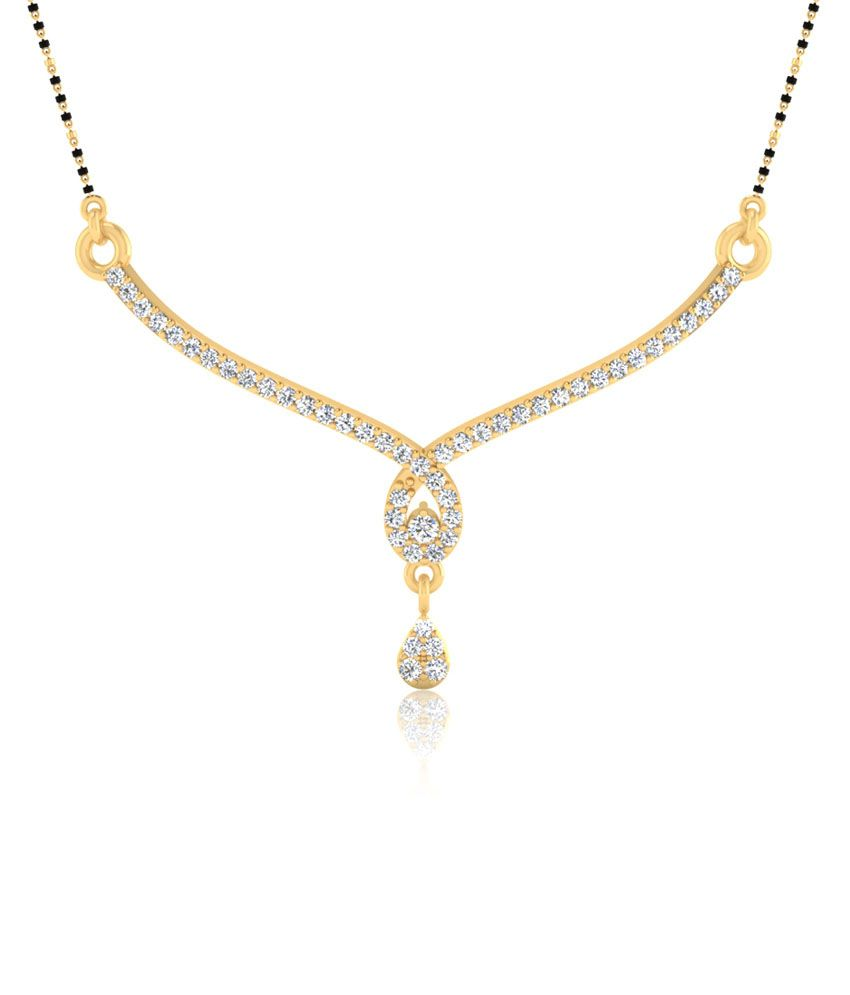 Iskiuski Nayana Mangalsutra Set In 0.55ct Diamonds In 925 Sterling Silver