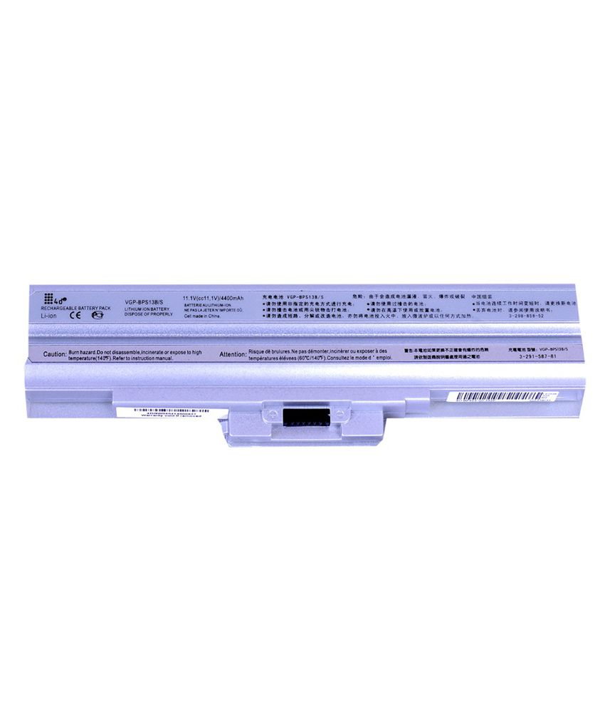 4d Sony Vaio Vgn-fw93js 6 Cell Laptop Battery