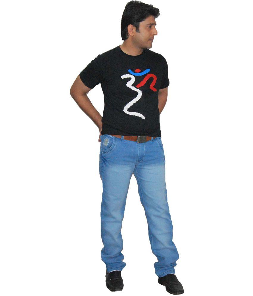 Arco Blue Cotton Blend Regular Fit Jeans