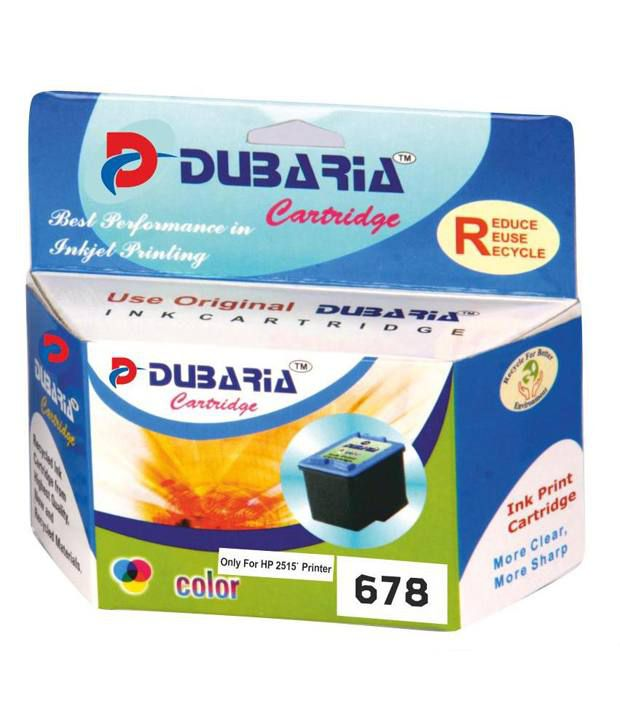 Dubaria 678 Colour Ink Cartridge Compatible For Hp 678  only Hp 2515 Printer