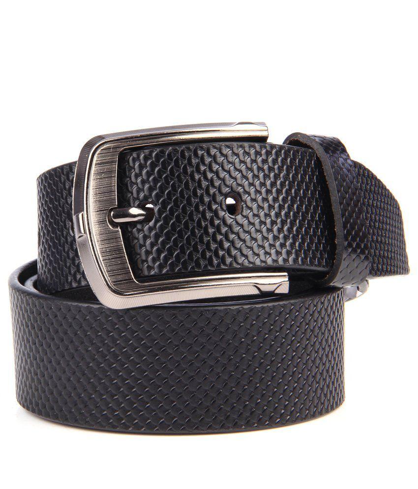 Leonardi Black Pure Leather Belt