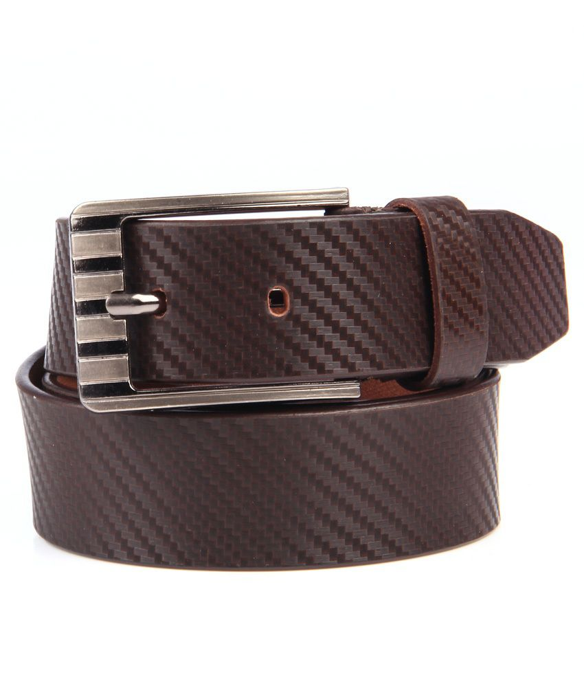 Leonardi Brown Pure Leather Belt