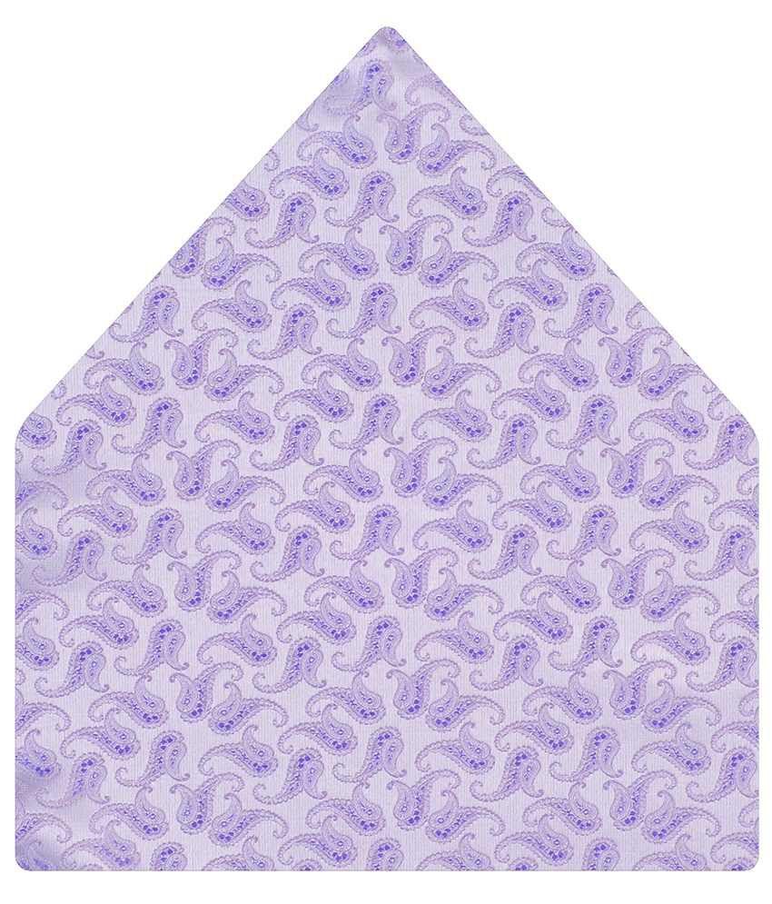 Tiekart Alluring Purple Paisley Pocket Square
