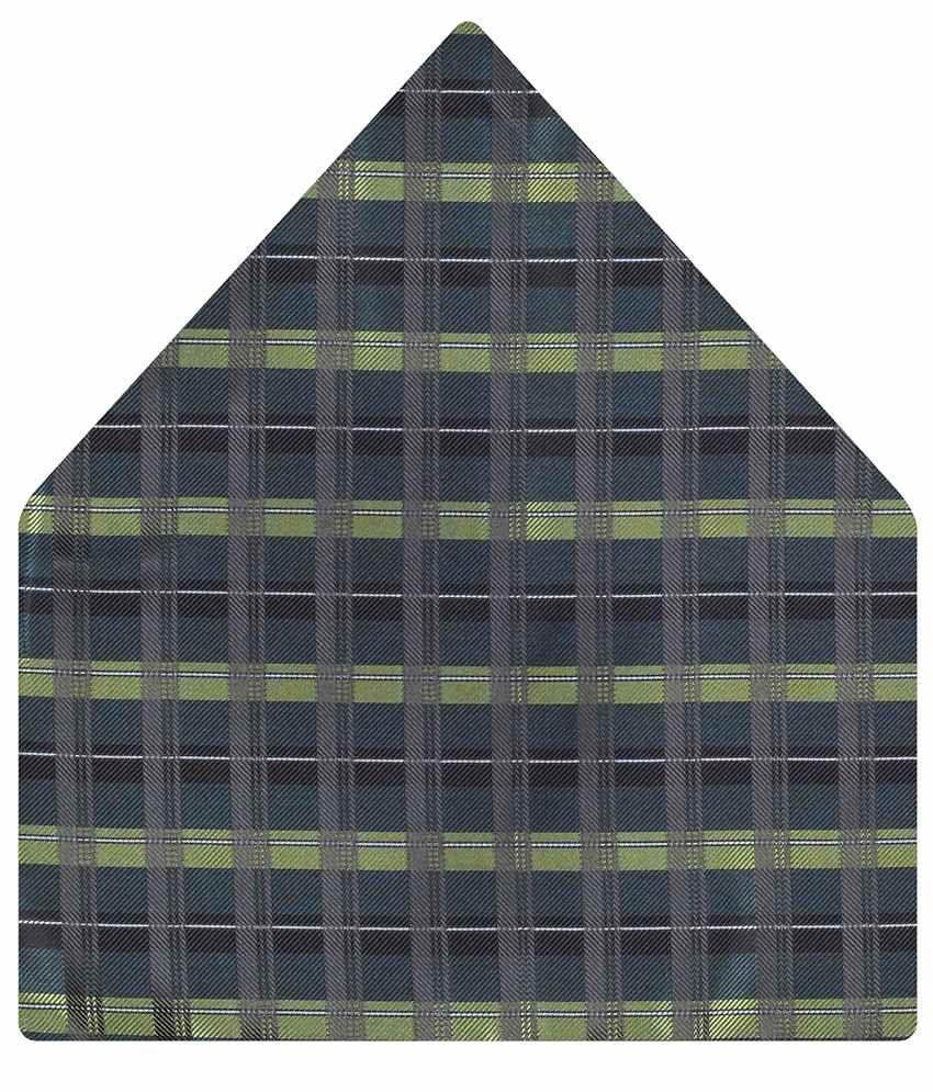 Tiekart Gray Checkered Pocket Square