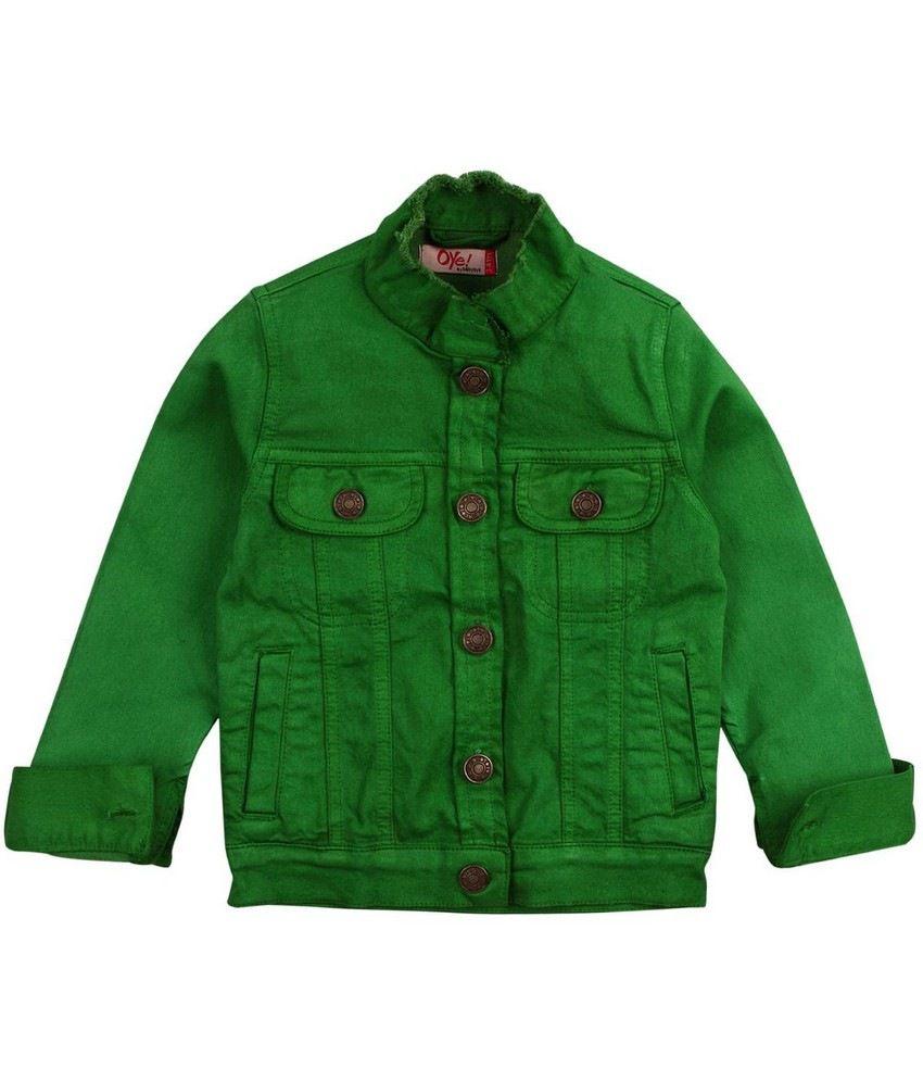 Oye Coloured Denim Jacket - Green