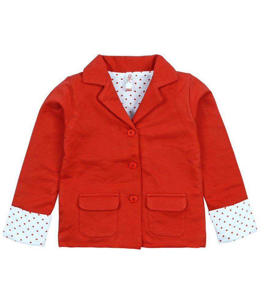 Oye Full Sleeve Jacket - Orange