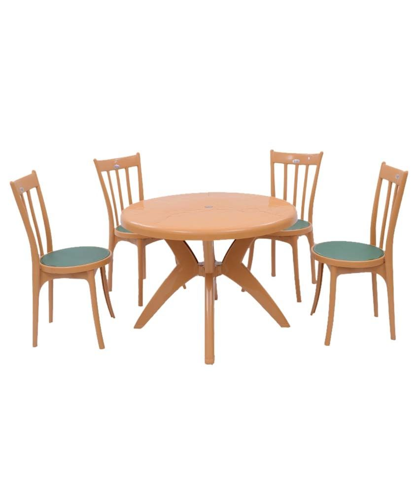 Supreme set of 4antik without arm chair 1marina round for Dining table without chairs