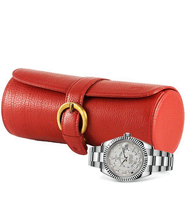 Gogappa Leather Watch Case Organizer Roll