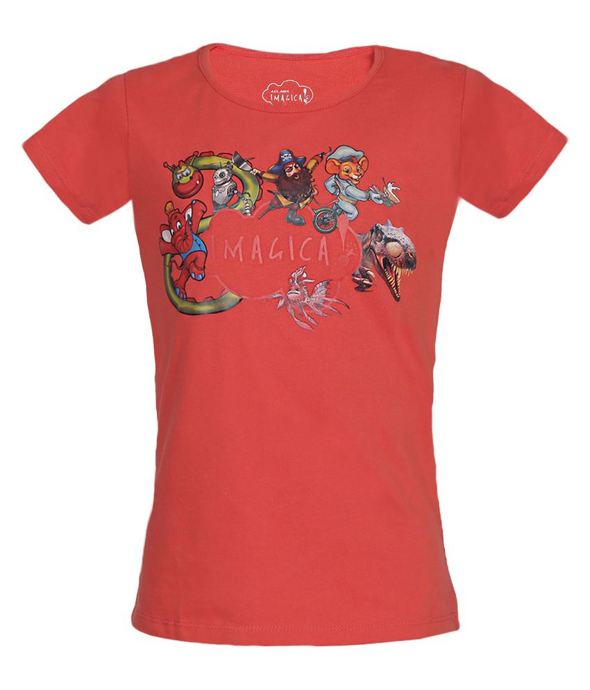 774028fbda Imagica Orange Character Cloud T Shirt For Girls - Buy Imagica Orange  Character Cloud T Shirt For Girls Online at Low Price - Snapdeal