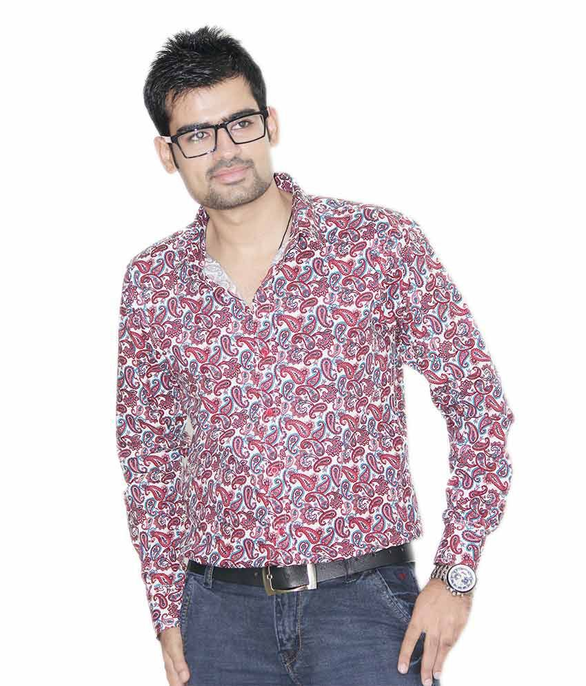 f6d23160039e24 Kings Republic Men's Red Floral Print Shirt - Buy Kings Republic Men's Red Floral  Print Shirt Online at Best Prices in India on Snapdeal
