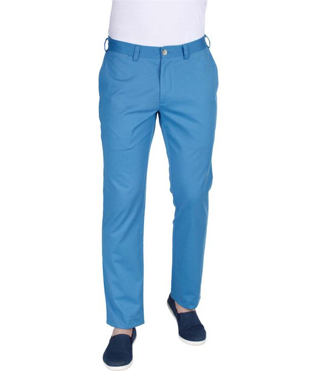 Zobello Blue Slim -Fit Chinos Chinos
