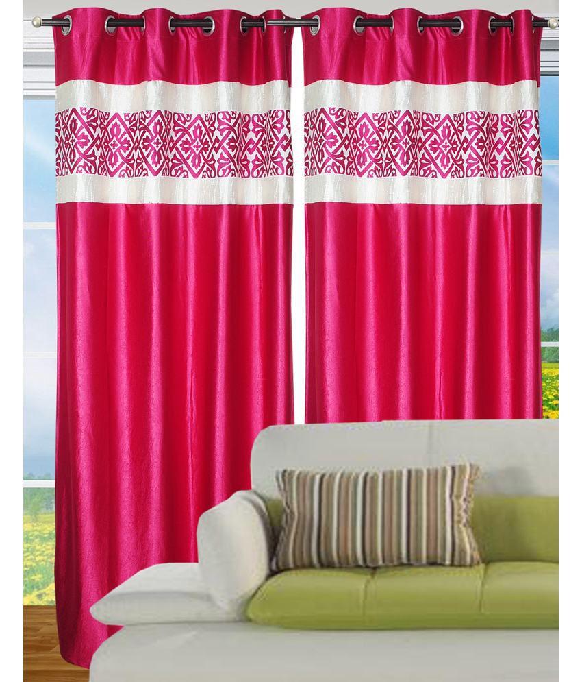 Fantasy Home Decor Set Of 4 Door Eyelet Curtains