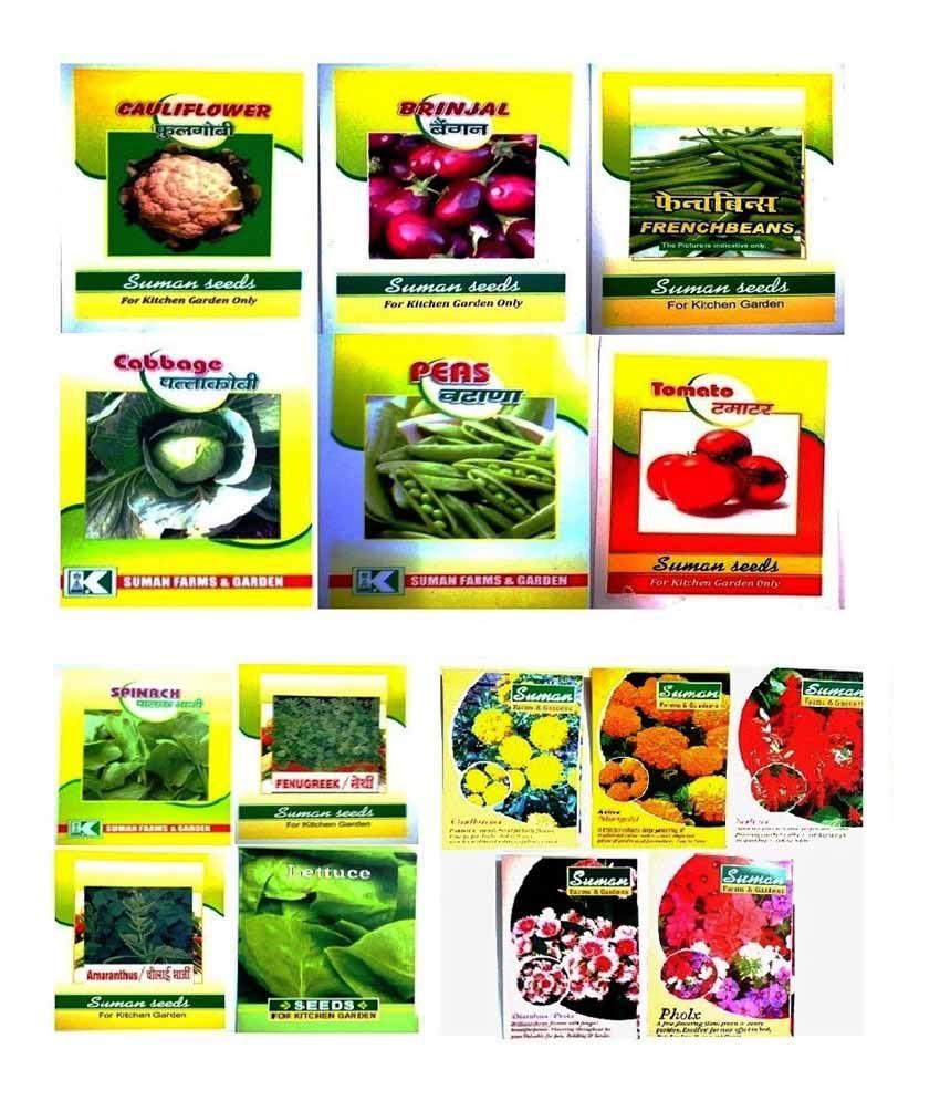 Suman Garden Suppliers Vegetable Seeds  Combo Pack Of 3 ...