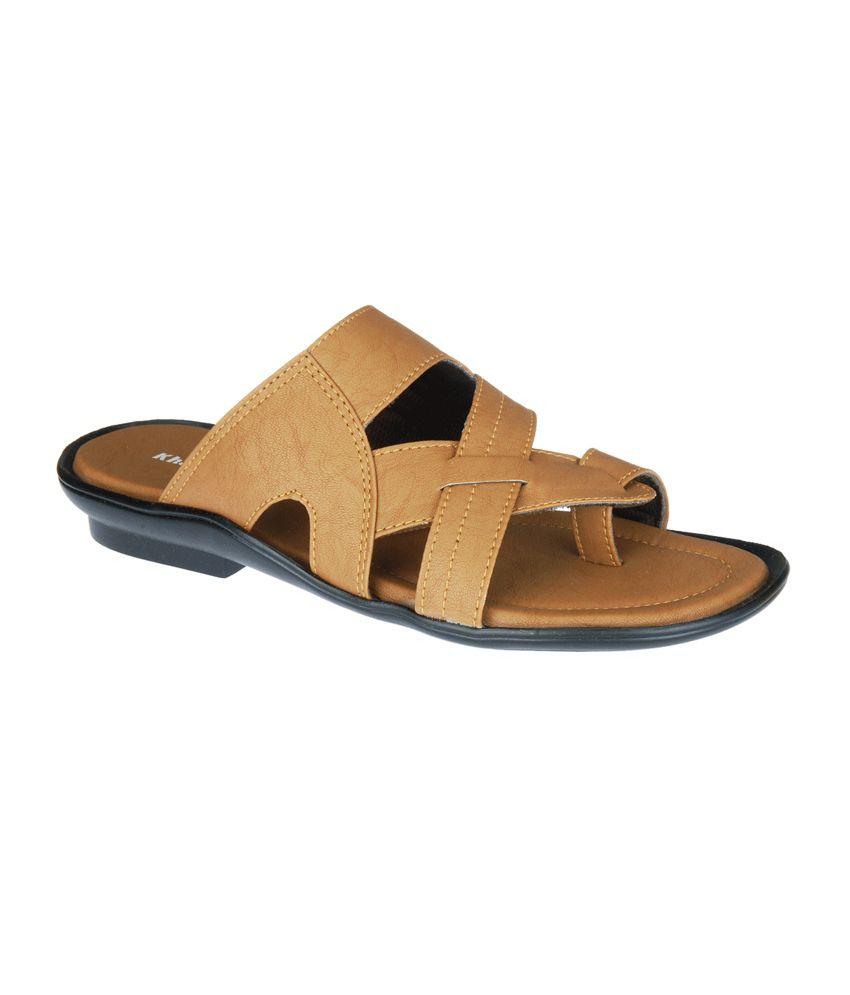 b76d289a6 Khadim s Men Tan Slip-on Sandal Price in India- Buy Khadim s Men Tan Slip-on  Sandal Online at Snapdeal