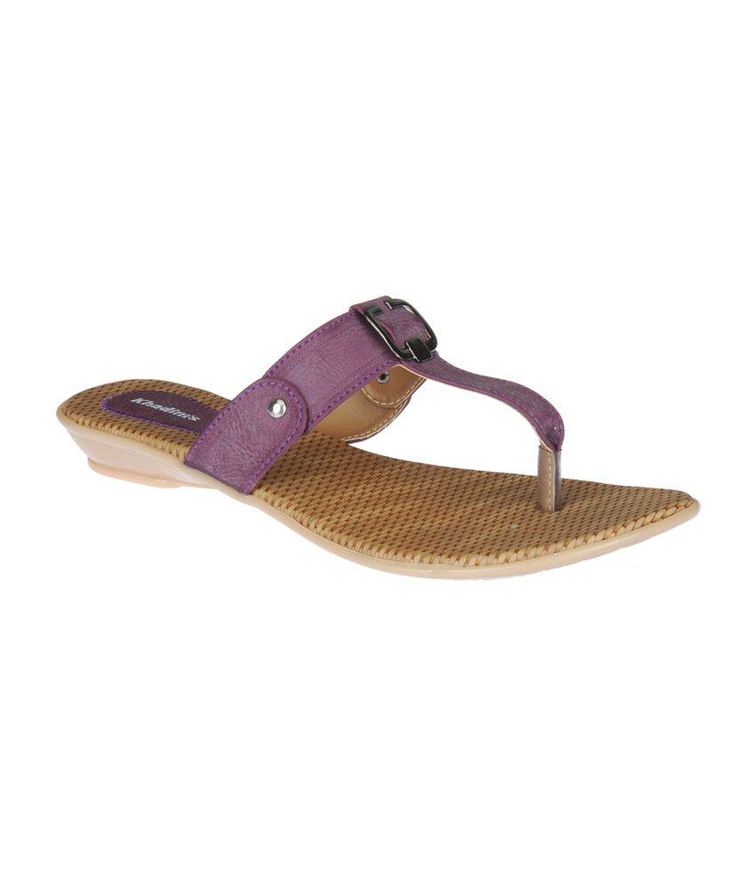 b12cee50b Khadim s Women Purple Slip-on Sandal Price in India- Buy Khadim s Women  Purple Slip-on Sandal Online at Snapdeal