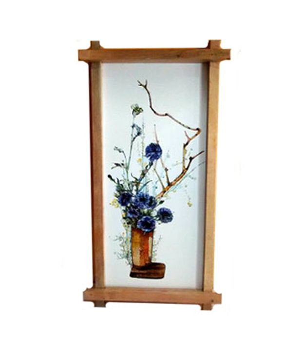 Gifts And Arts Flowerpot Dabholkar Painting Wall Frame