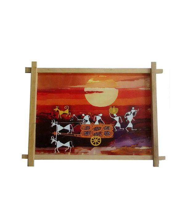 Gifts And Arts Varli Art Dabholkar Painting Wall Frame