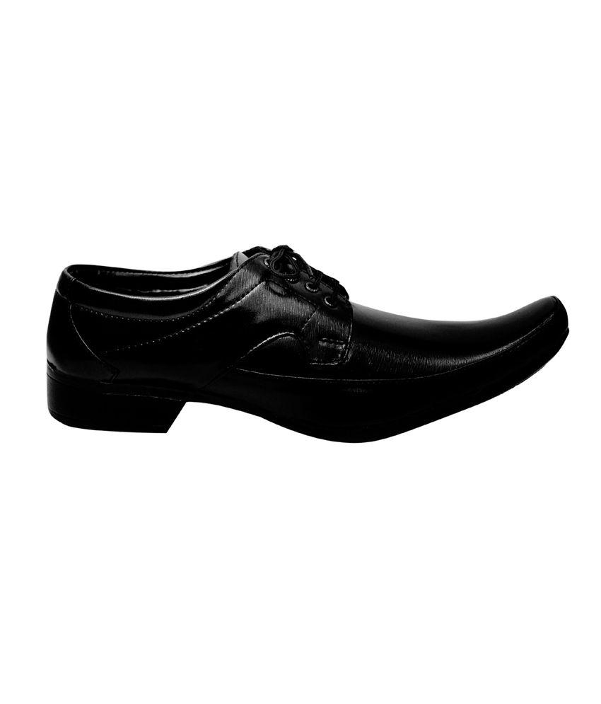 Kraasa Black Formal Shoes Price in