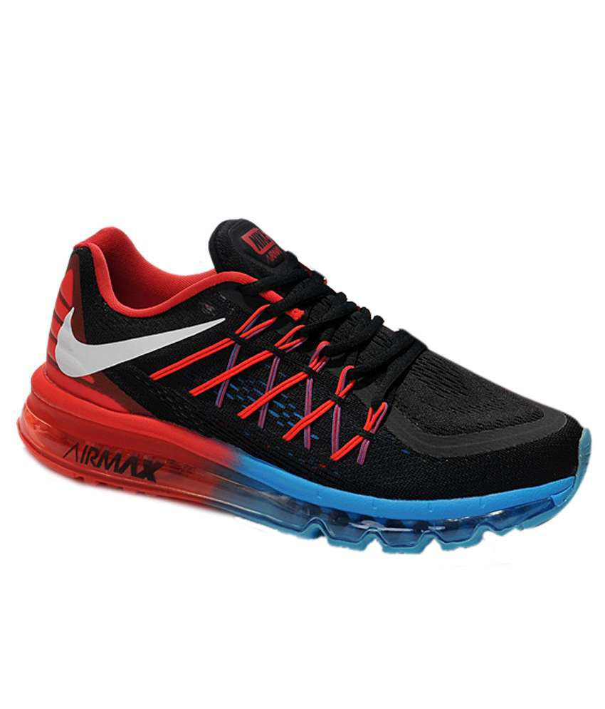 nike air max 2015 black running shoes buy nike air max 2015 black running shoes online at best. Black Bedroom Furniture Sets. Home Design Ideas