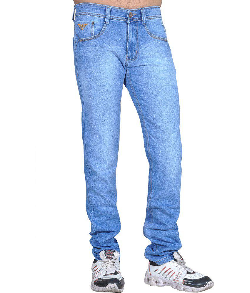 Parth Creation Blue Cotton Blend Jeans