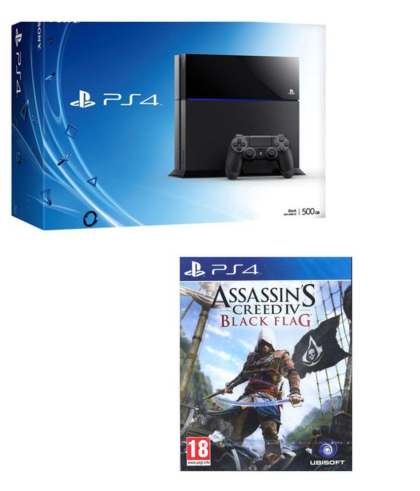 Playstation 4 500 GB + Assasin's Creed Black Flag
