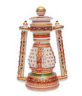Balaji Handicrafts Textured Marble Laltern