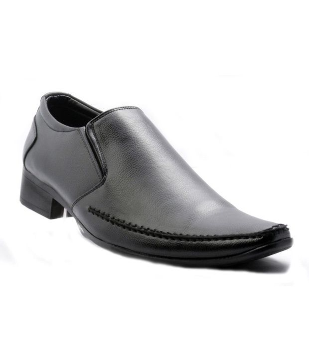 af835bfd985b Bata Black Slip On Genuine Leather Formal Shoes Price in India- Buy Bata  Black Slip On Genuine Leather Formal Shoes Online at Snapdeal