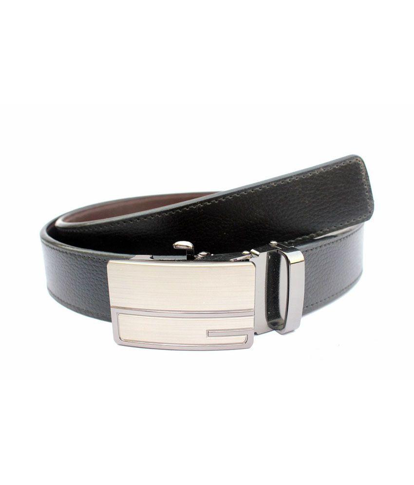 Imp Black Non Leather Autolock Buckle Belt