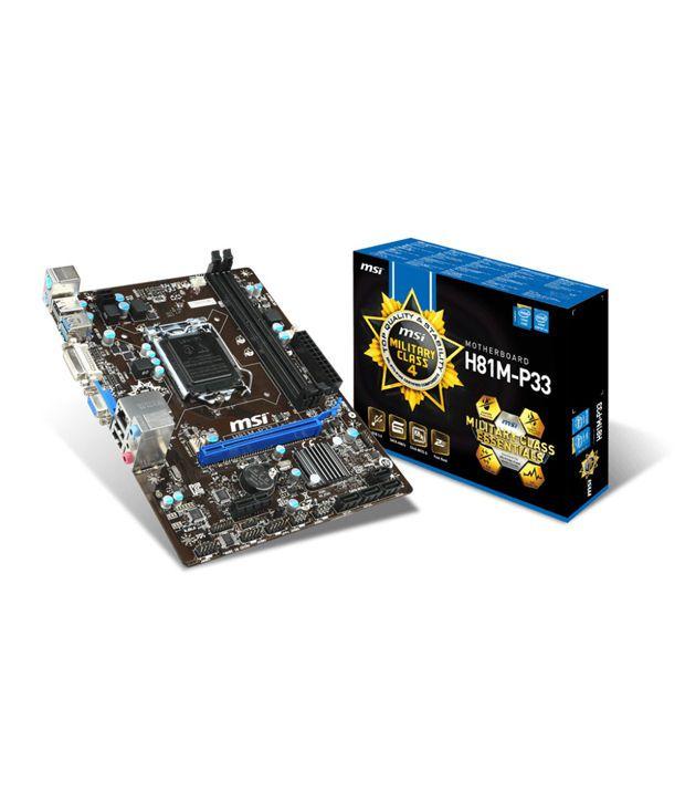Msi H81m-p33 Military C4 Intel Motherboard