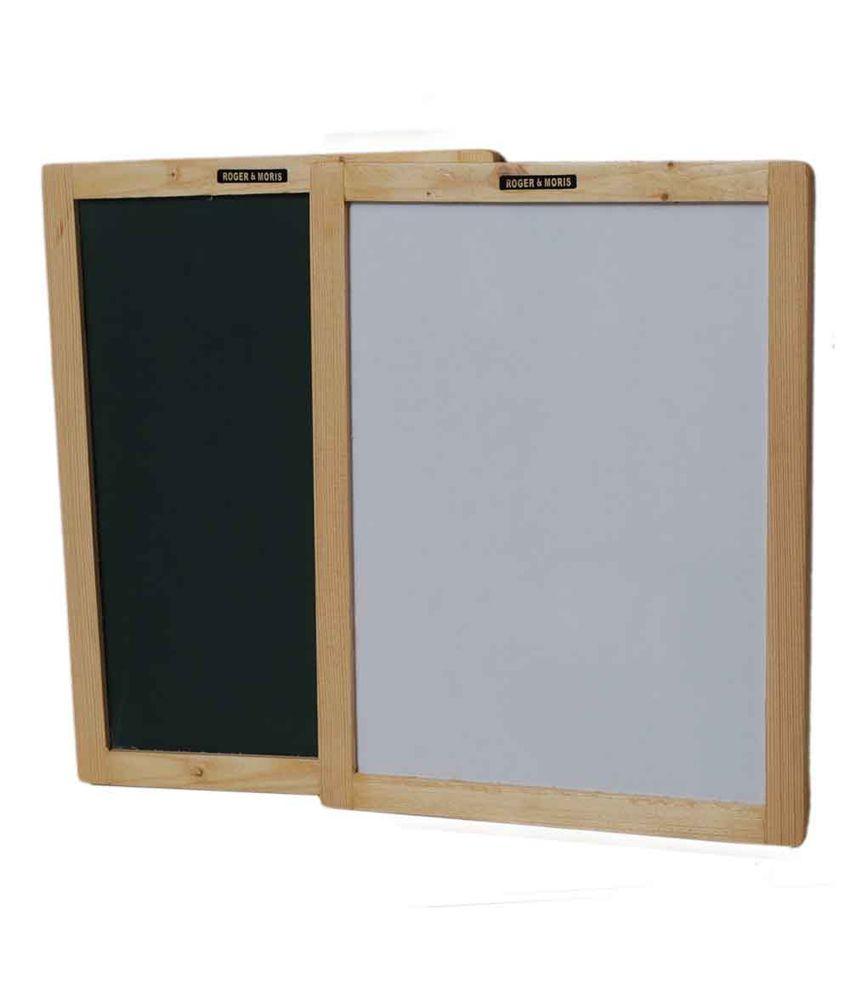 Roger & Moris Double Sided Board Slate Wooden Framed (9
