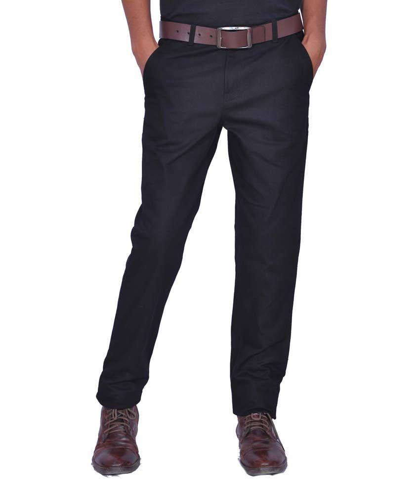 Leaf Shirt Blue Cotton Blend Men's Trousers