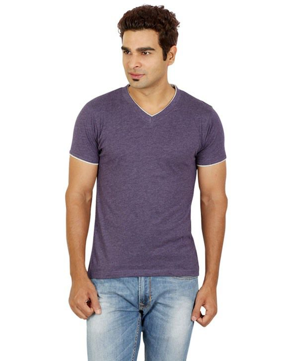 Red Line Purple Mel T-shirt