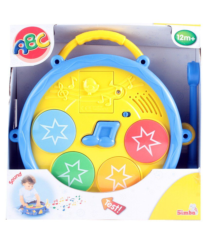 Simba Play And Learn Battery Operated Baby Musical Drum