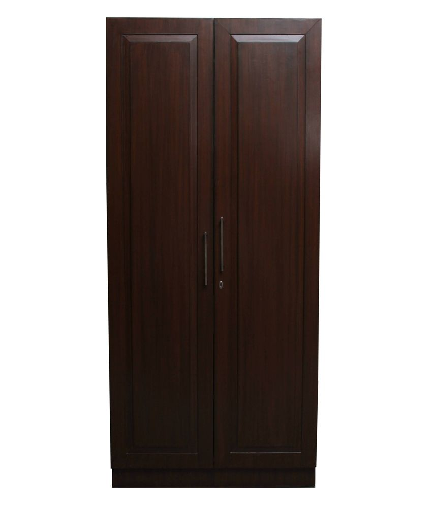Tectona Grandis Brown Natural Finish Teek Single Wardrobe