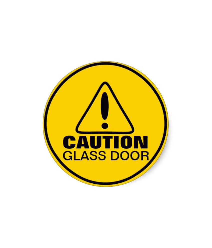 Reflective caution glass door decal Getting stickers off glass