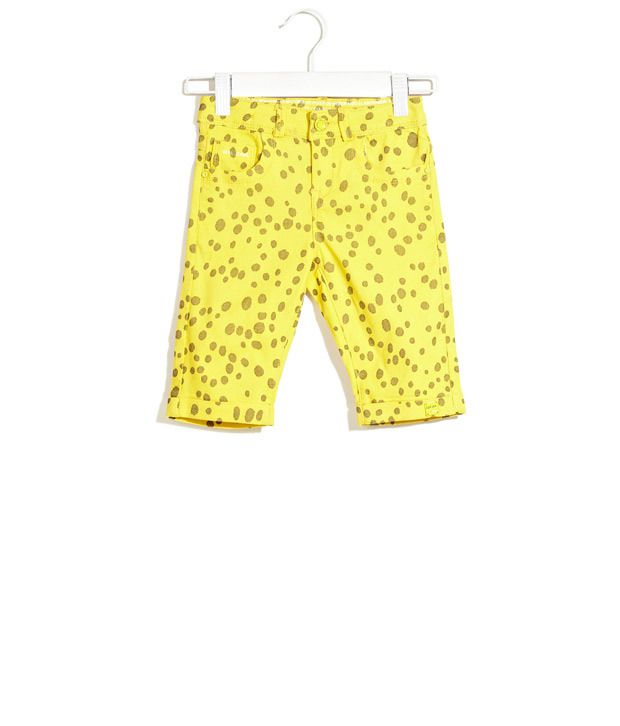 Deal Jeans Kids Yellow Blotches Of Bright Pedal Pushers