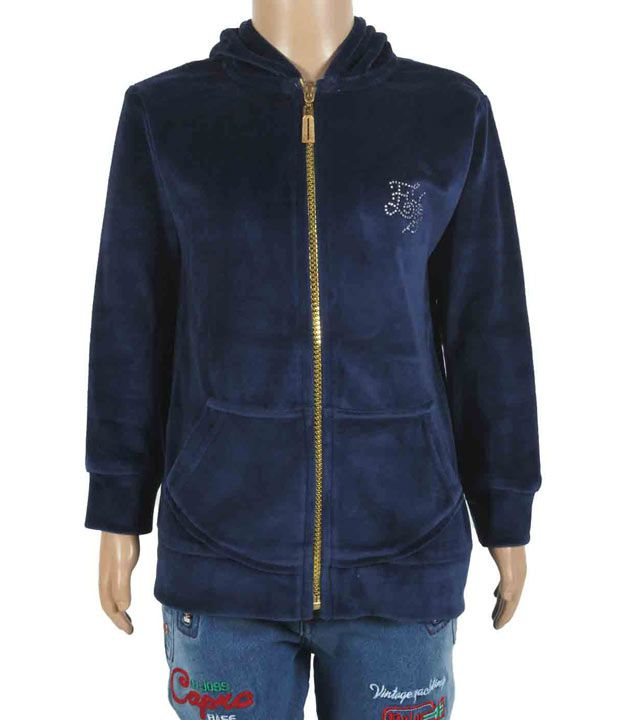 Eight26 Full Sleeves Blue Color Sweatshirt For Kids