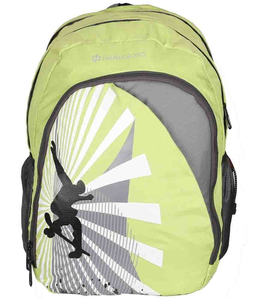 Harissons Glider Green & Gray Backpack 38L