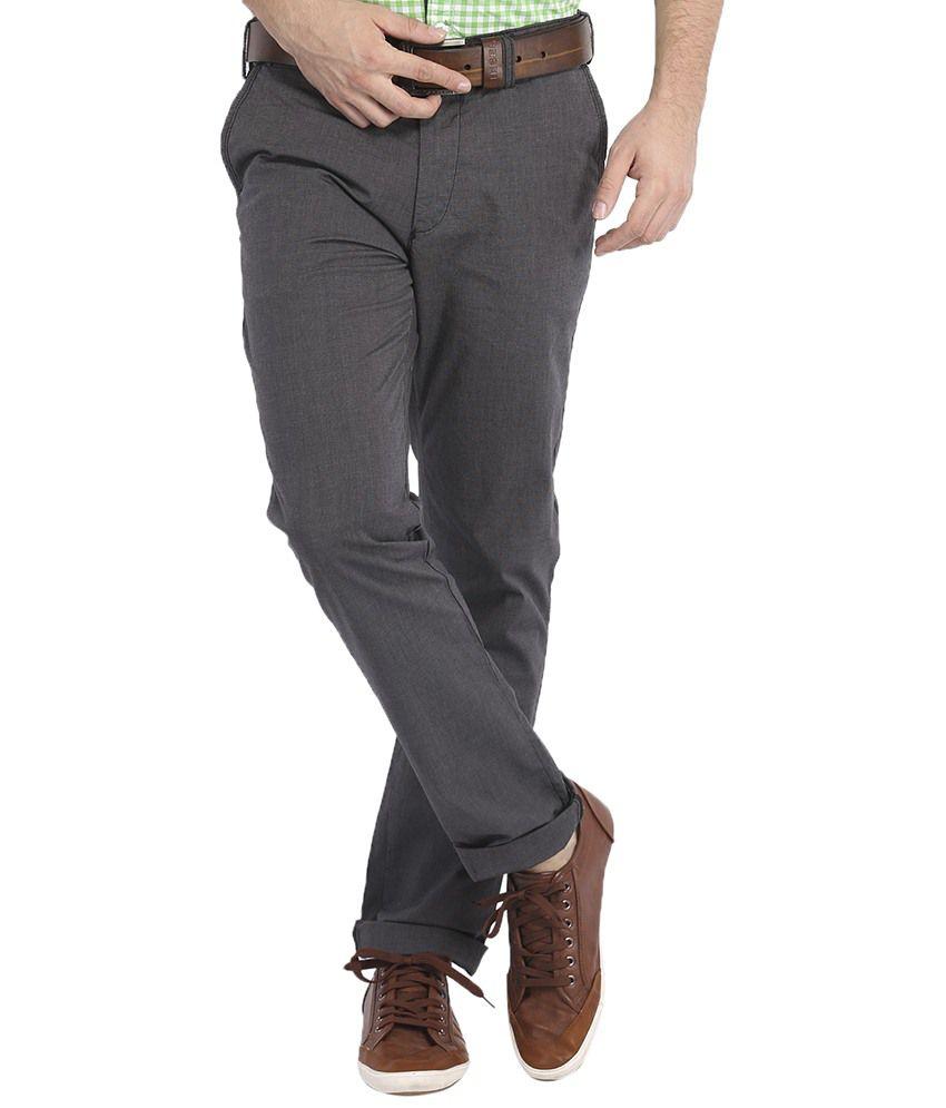Highlander Gray Slim Semi Formals Slim Fit