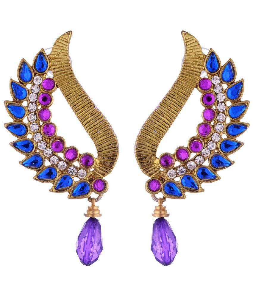 Kshitij Traditional Blue Drop Earrings