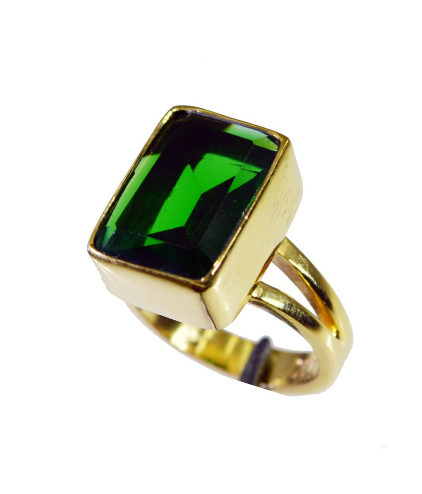 India Star Emerald: Riyo Grand Star Emerald-cz Ring: Buy Riyo Grand Star