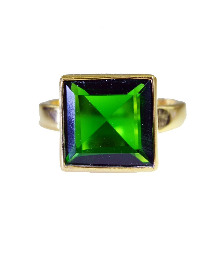 India Star Emerald: Riyo Superb Star Emerald-cz Ring: Buy Riyo Superb Star
