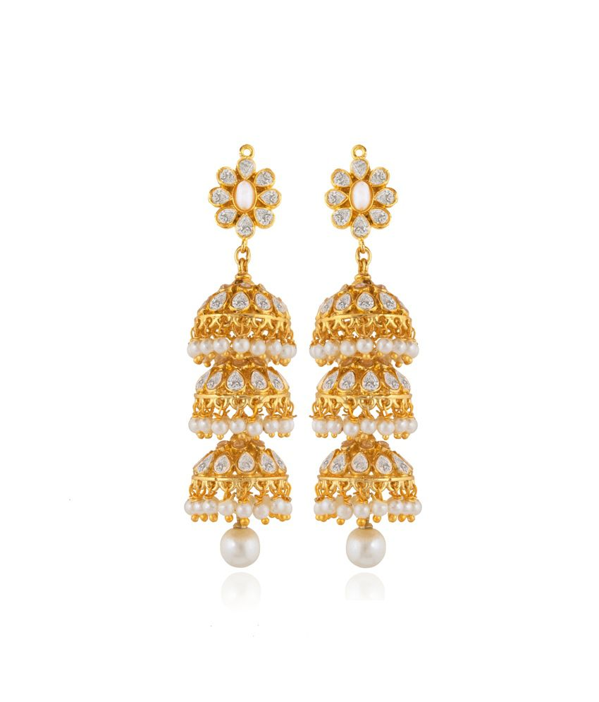 Rooh Jewellery Ethnic 3-layer Jhumki