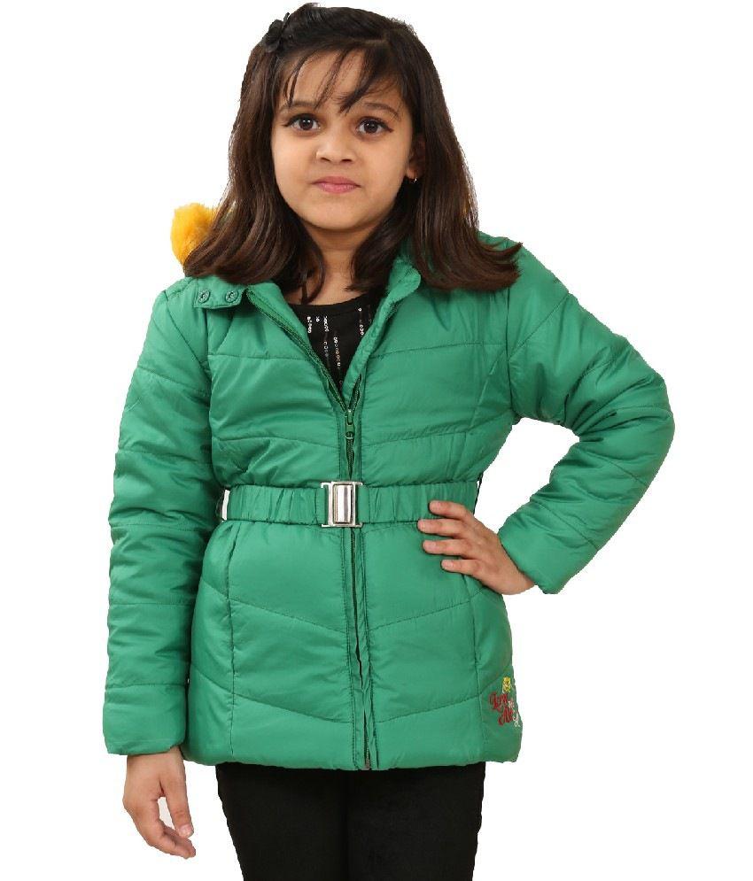 Sportking Green Color Jacket For Girl