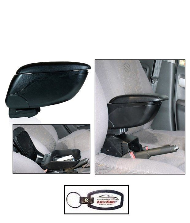 autosun car armrest console black   color honda mobilio