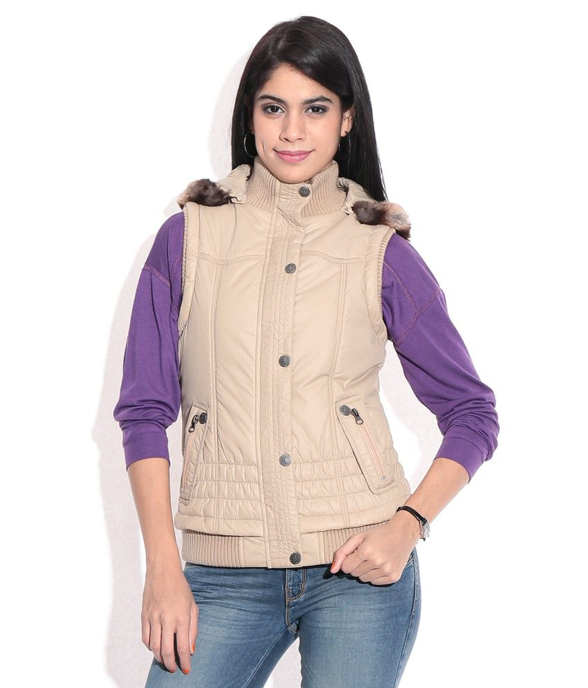 8429c91d943 Buy MADAME Beige Rayon Jackets Online at Best Prices in India - Snapdeal