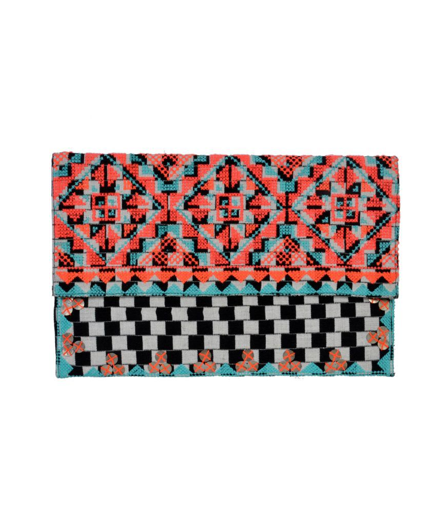 Diwaah Embroidered Fold Over Clutch