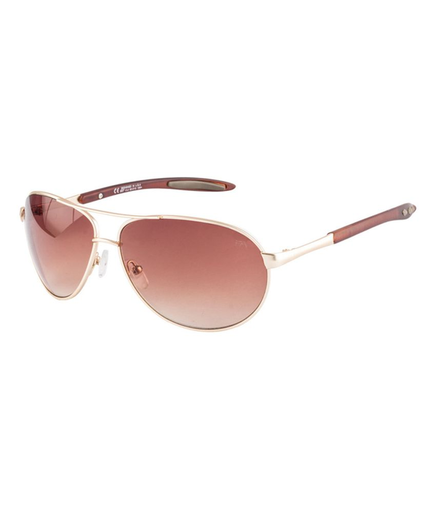 Farenheit SOC-FA957-C2 Golden /Brown Aviator Sunglasses