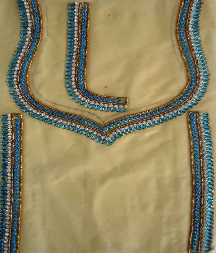 Sae fashions readymade embroidered blouse neck design